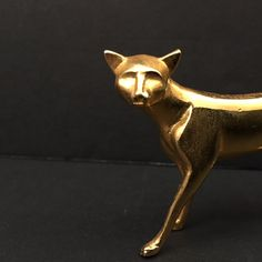 modern glam vintage gold cat sleek by sophisticatedflorida on Etsy