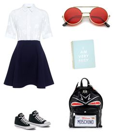 """ready for school"" by eleonora-w on Polyvore featuring Paul & Joe Sister, Converse, Moschino and ban.do"