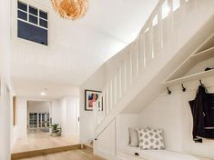 Storybook Hamptons-Style House Design. Custom Home Design with Hampton's Flair. Hampton Floor Plan with 4 Bedrooms Hampton-Style Kitchen Living Stairs Bath