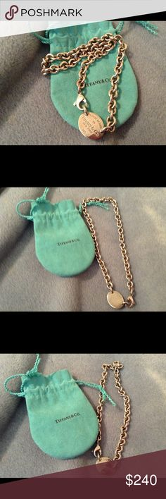 Tiffany & Co Chain Link Necklace This Is An Authentic Tiffany & Company Tag Chain Link Necklace That's In Excellent Condition! It's To Small For Me Lucky For You! Thanks! Tiffany & Co. Jewelry Necklaces