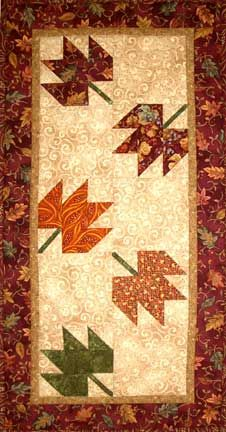 Autumn table runner. I could do this!