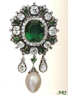 Italian Royal Jewels: reina Margarita de esmeralda broche de Savoy