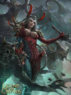 Artist: Chin Jing Hui aka zeen84 - Title: byrdy confidant of satan - Card: Regina, Demon's Idol (Unequalled)