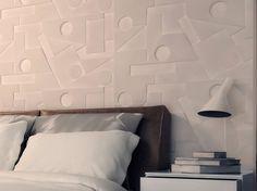 Panel de pared 3D para interiores FORME by Profilgessi diseño Roberto Panzieri