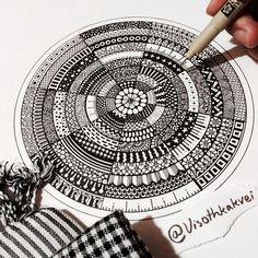Zentangle mandala #visothkakvei