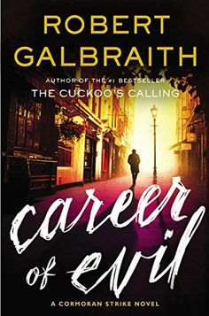 Career of Evil is the third in the highly acclaimed series featuring private detective Cormoran Strike and his assistant Robin Ellacott. When a mysterious package is delivered to Robin Ellacott, she is horrified to discover that it contains a wom. New Books, Good Books, Books To Read, Reading Books, Reading 2016, Library Books, Thriller Books, Mystery Thriller, Mystery Series