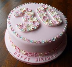 flowery cakes | Flowery 30th Birthday Cake
