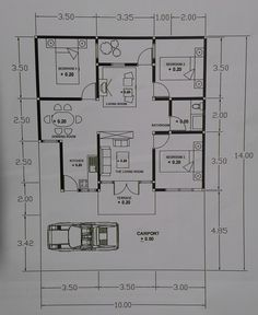 Tiny House Design Plan With Color Play