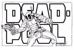 imagenes de deadpool para dibujar facil