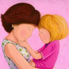 Mother Daughter Love Cartoon reflects love of our beautiful daughter Children's Book Illustration, Illustrations, The Joys Of Motherhood, Mommys Girl, Mamas And Papas, Mother And Father, Daughter Love, Daughters, Mothers Love