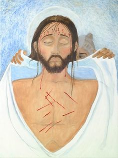 Station 10: Jesus Is Stripped of His Garments. Artist: Beverley Barr. Stations of the Cross at Christ Church Eastbourne. .