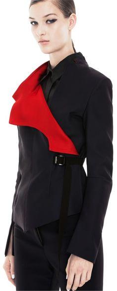 Beatrice HTech  waistcoat in Midnight Blue - the feeling is so Yohji Yamamoto, yet it is Acne! (^^)