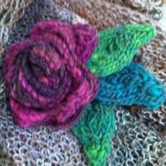 Knitted flower for Janet