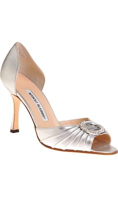 Manolo Blahnik Sedaraby. The shoes that were stolen from Carrie Bradshaw! Would be fabulous for a wedding (or anytime!)
