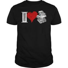 I Love Books Shirt Mens Premium TShirt =>   I Love Books Shirt Mens Premium TShirt          5.3 oz., pre-shrunk 100% cotton  Dark Heather is 50/50 cotton/polyester  Sport Grey is 90/10 cotton/polyester  Double-needle stitched neckline, bottom hem and sleeves  Quarter-turned  Seven-eighths inch seamless collar  Shoulder-to-shoulder taping