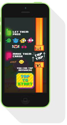 Good Guy Pipe - Free iOS game by Rubens Cantuni, via Behance