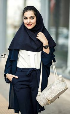 """Iranian girl in Iran. """"Best Iranian fashion"""" is published by aroosiman. Iranian Women Fashion, Womens Fashion, Iranian Beauty, Beautiful Hijab Girl, University Style, Persian Girls, Stylish Girl Images, Student Fashion, Muslim Women"""