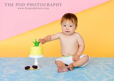 Pineapple Summer Theme Cake Smash!