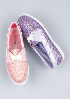 Sperry Glitters must have the pink ones!
