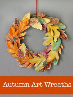10 beautiful homemade fall wreath art projects (NurtureStore)