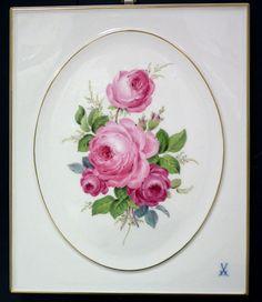 Euro sınıf intrinsics   Meißen plak seramik plaka görüntü çiçek meyve dört mevsim manzara