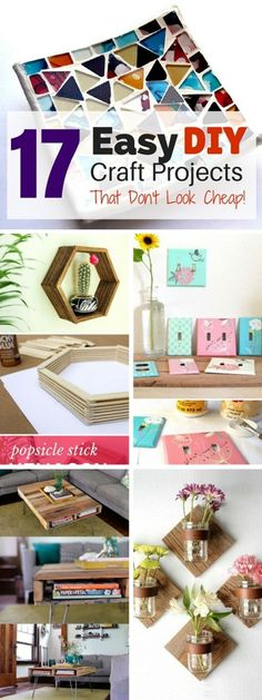Inexpensive and easy to do but these #DIY #crafts certainly don't look cheap!