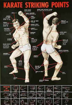KARATE STRIKING POINTS