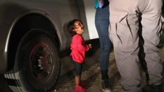 "John Moore's viral image of a weeping two-year-old girl at the US border which has become the potent symbol of the outrage over Donald Trump's controversial ""zero tolerance"" policy."