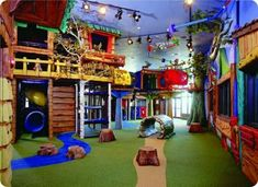 Commercial indoor play structures and playground equipment for ages, budgets, and design requirements of all types. Learn more about our custom capabilities! Soft Play, Toy Rooms, Kids Rooms, Dream Rooms, Kid Spaces, Play Spaces, Play Houses, Kids Bedroom, Soccer Bedroom