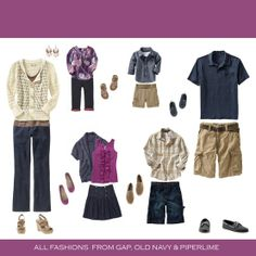 Purple. Tan. Navy. Family Session {Anthology} Clothing Color Combo Inspiration.