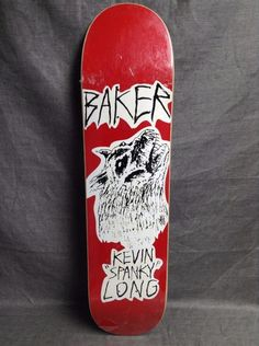 "BAKER Kevin ""Spanky"" Long Skateboard Deck. NEW !"