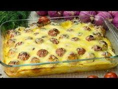Cartofi cu chifteluțe la cuptor- o rețetă extrem de gustoasă, de te lingi pe degete! - YouTube Enjoy Your Meal, Good Food, Yummy Food, Romanian Food, Fruit Drinks, Macaroni And Cheese, Cake Recipes, Bacon, Food And Drink