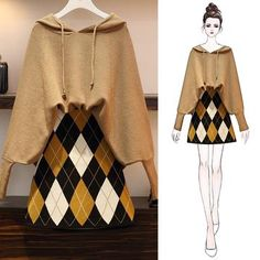Winter Loose Suit for Fat Girls Girls Fashion Clothes, Teen Fashion Outfits, Stylish Outfits, Fashion Drawing Dresses, Fashion Illustration Dresses, Korean Girl Fashion, Ulzzang Fashion, Kawaii Fashion, Cute Fashion