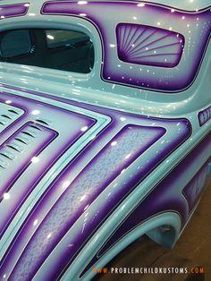 Some advance, sneak-peeks of the 2013 Detroit AutoRama. Custom Car Paint Jobs, Custom Motorcycle Paint Jobs, Motorcycle Design, Custom Motorcycles, Custom Cars, Auto Paint, Airbrush, Detroit, Homemade Motorcycle