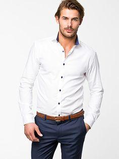 Hvide Two Save Selected Homme skjorter - ModeJagten.dk