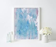 blue acrylic abstract print, acrylic painting, original artwork, acrylic artwork, colourful print, gallery wall, minimalist artwork Minimalist Artwork, Acrylic Artwork, Abstract Print, Shades Of Blue, Giclee Print, Original Artwork, Contemporary Art, Gallery Wall, Colours