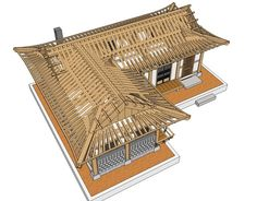 Architecture Visualization, Japanese Architecture, Architecture Design, Minecraft Japanese House, Asian House, Traditional Japanese House, Timber Frame Homes, Building, Archie