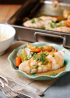 Roasted Chicken & Vegetables w/Maple Mustard Sauce  Delicious and not difficult at all.  Subbed ground thyme for fresh.