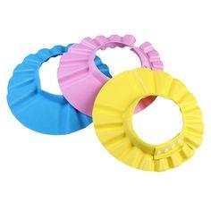 Newborn  Baby Kids Soft & Adjustable Toddlers Hair Wash Washing Cap Hat Shampoo Bath Bathing Shower Safety Protecting Shield