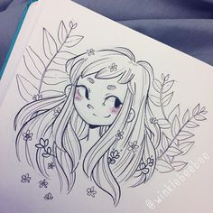 Ideas flowers girl illustration character design for 2019 Cute Drawings, Drawing Sketches, Jolie Photo, Character Drawing, Cartoon Art, Love Art, Art Inspo, Art Reference, Anime Art