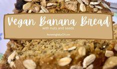 Vegan Muesli Banana Bread (loaded with nuts and seeds) - therunningbaker24 Banana Bread Ingredients, Healthy Banana Bread, Baking Ingredients, Banana Breakfast, Breakfast Ideas, Food Articles, No Bake Treats, Muesli, Vegan Butter