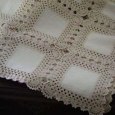 Diy Crafts - Bedspread Crochet Pattern with Hexagon Motifs Crochet Bedspread, Crochet Fabric, Crochet Quilt, Crochet Doilies, Hand Crochet, Crochet Lace, Filet Crochet, Crochet Borders, Crochet Squares