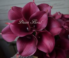 Burgundy Calla Lilies Real Touch Flowers for Silk by DexinFloral