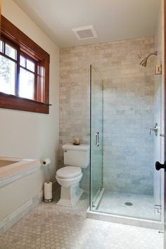 gorgeous craftsman bathroom love the subway pattern of marble in the shower bathroom master pinterest craftsman bathroom craftsman and marbles