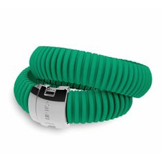 #hiphop: bracciale in silicone Emerald Green, 2 giri