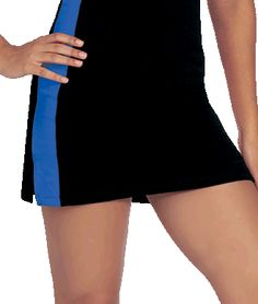 Lycra Panel Cheer Skirt with Built-in Shorts by Chassé