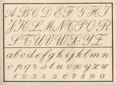 Old Cursive Alphabet | images of cursive letters old english ...