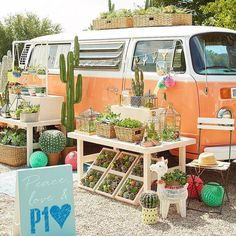 Don't have a green thumb? Our faux succulents are really hard to kill. Flower Truck, Flower Cart, Boutique Decor, Mobile Boutique, Mobile Shop, Flower Shop Decor, Fruit Holder, Faux Succulents, Garden Shop