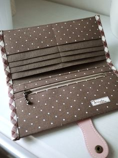 PREORDER . Dark Choco-dots Long Wallet. $38.00, via Etsy.