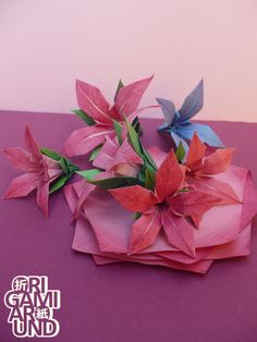 my next project: these days I'm experimenting with painting the paper before folding